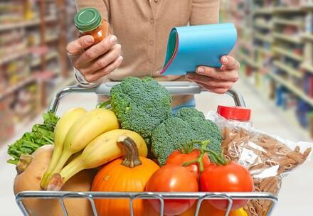 Fresh food in a basket