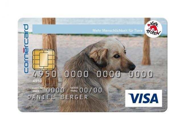 Kreditkarte Hund