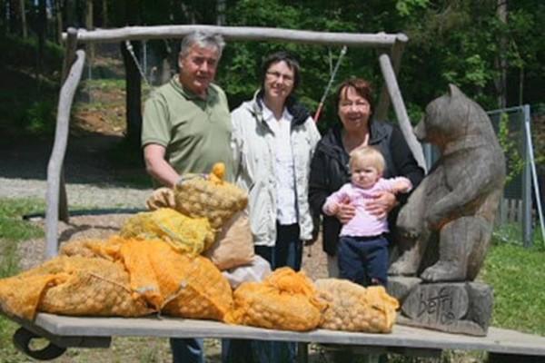 Kastner Family with walnut donation