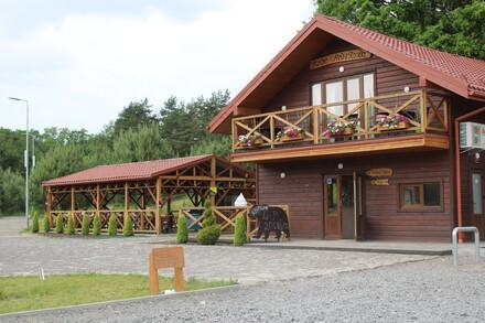 Visitor centre at BEAR SANCTUARY Domazhyr