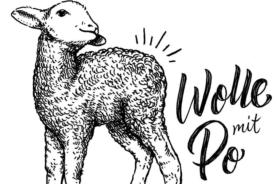 Wolle mit Po