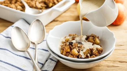 Apple crumble without flour