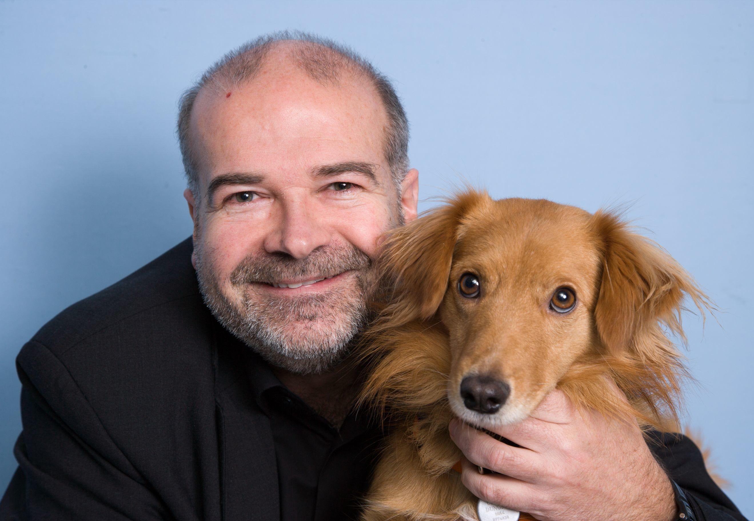 Helmut Dungler mit seinem Hund