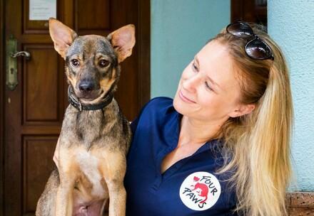 Dog and Dr. Katherine Polak