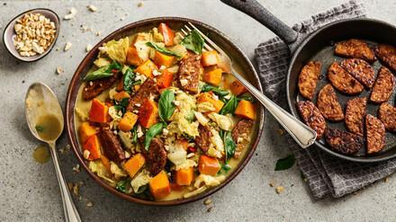 Curry mit Kürbis und Tempeh