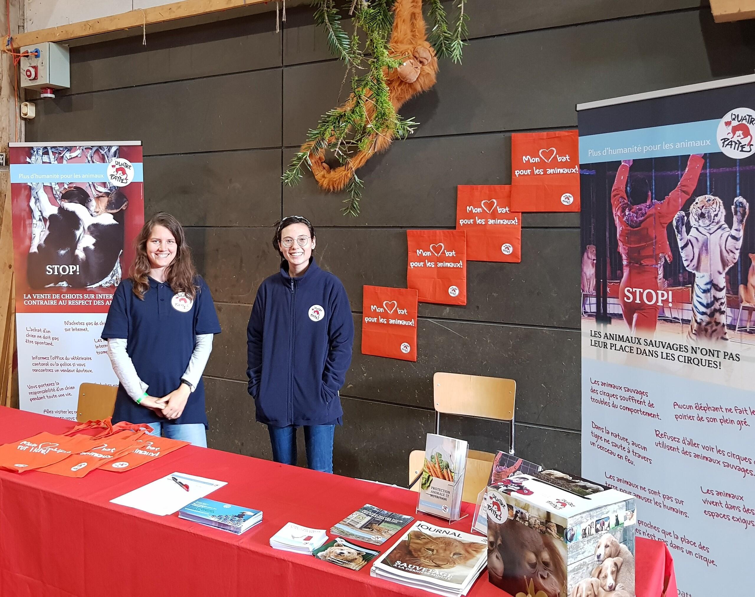 QUATRE PATTES participe à la deuxième édition du salon Terr-animale à Saignelégier