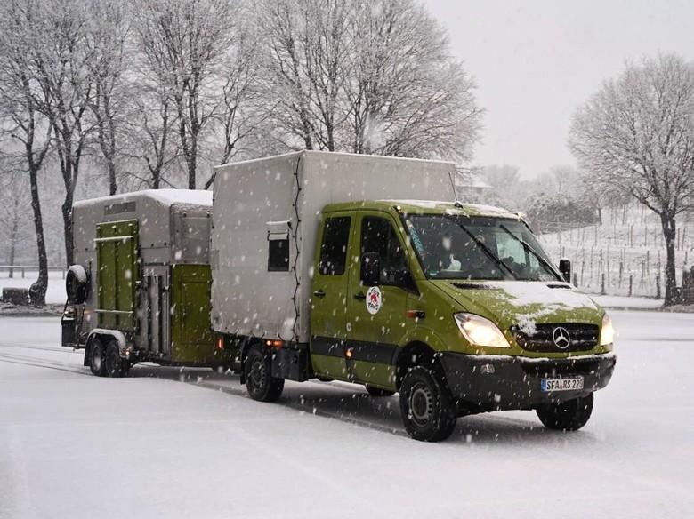 Die verschneite Reise der beiden Bären nach Arosa (c) VIER PFOTEN