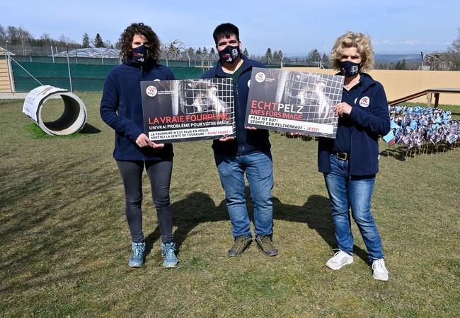 La protestation de QUATRE PATTES