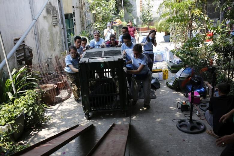 Das VIER PFOTEN Team transport die Bären in ihr neues Zuhause (c) Hoang Le | VIER PFOTEN