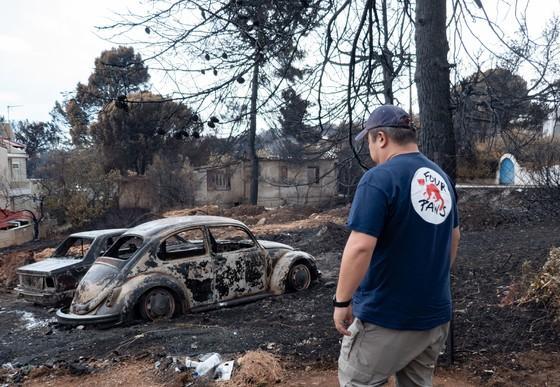 Aide d'urgence en Grèce suite aux incendies