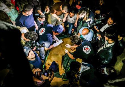 Reddingsmissie in Gaza