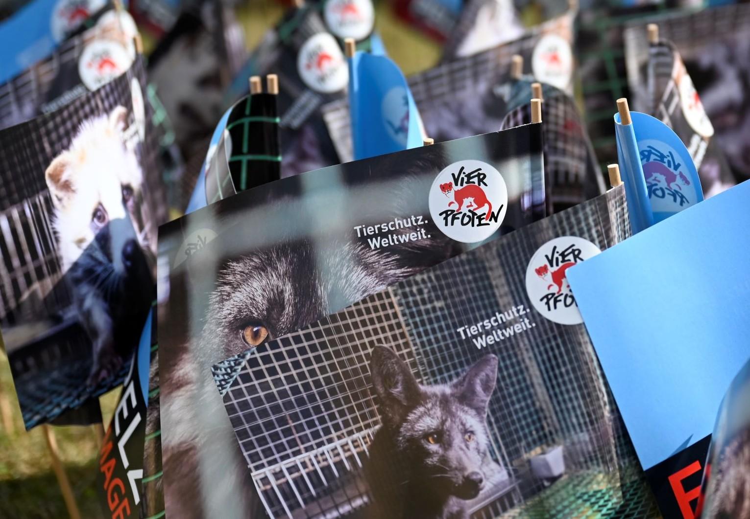 Protestation contre la fourrure