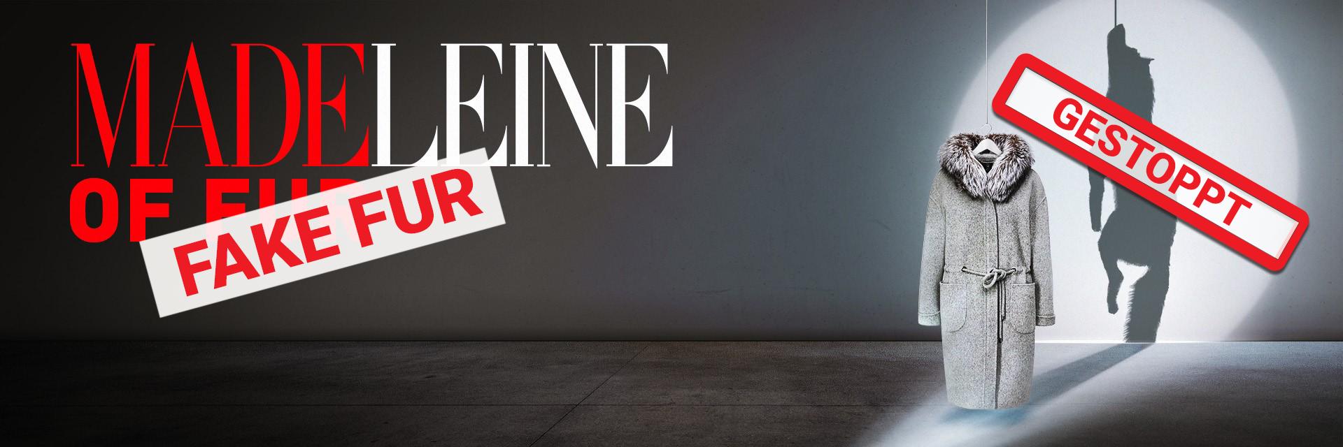 Madeleine Pelzkampagne Erfolgsbanner