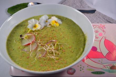 Grüne Frühlings-Creme-Suppe
