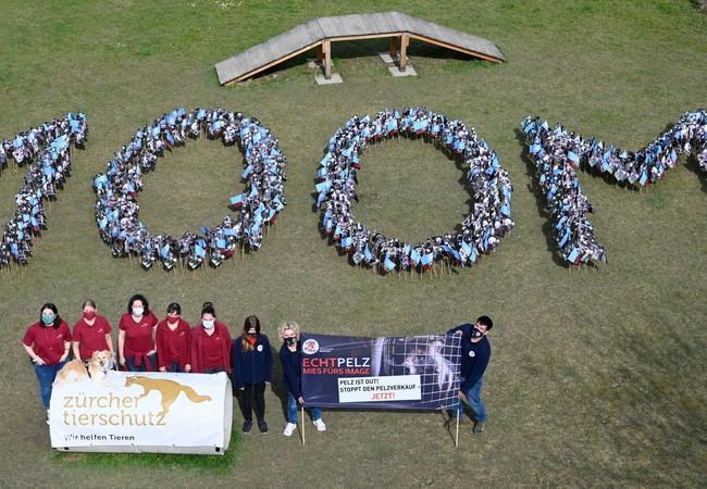 Protestation contre la fourrure à Zurich