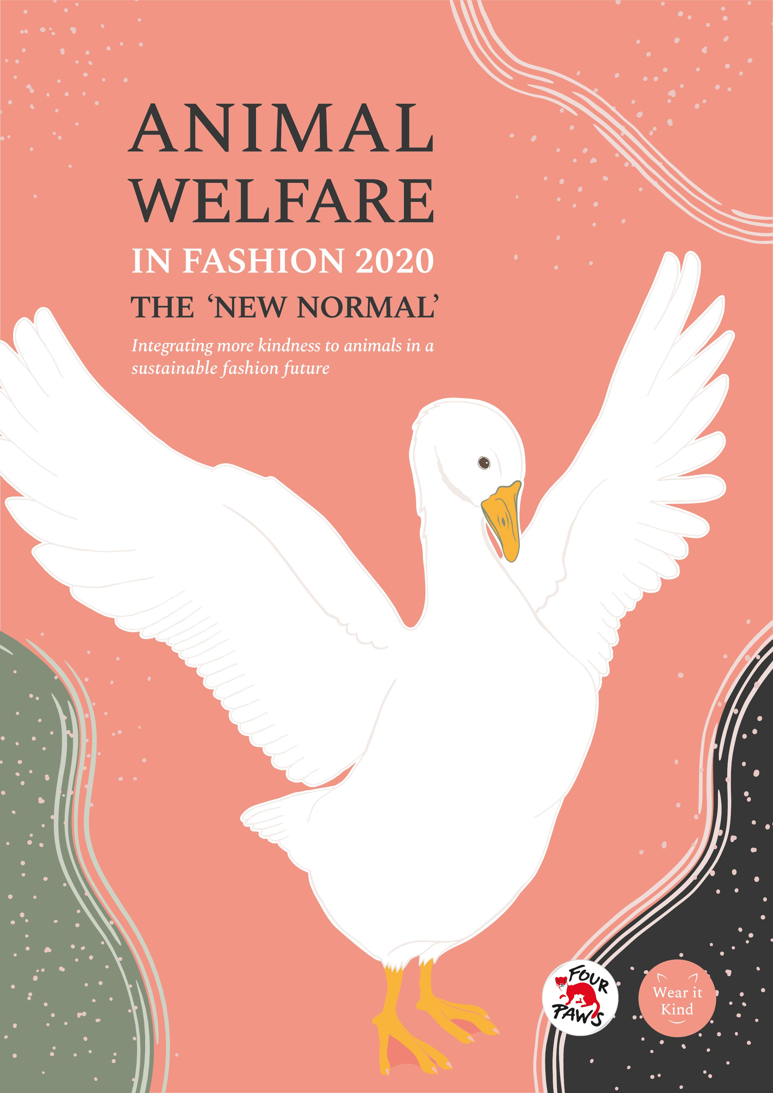 Cover for FOUR PAWS report Animal Welfare in Fashion 2020