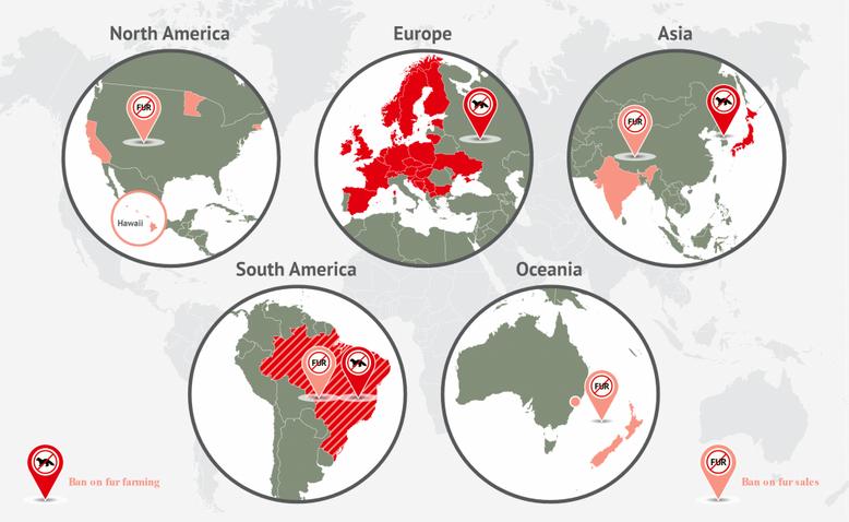 Fur Bans Map