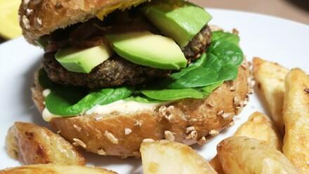 Pilz- und Kichererbsen Burger
