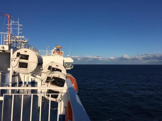Kurz vor der Ankunft in Bari