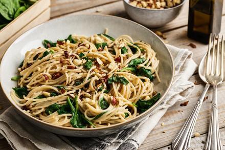 Plat de spaghetti végétarien