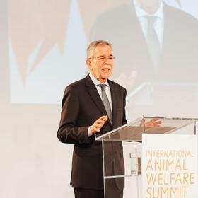 Bundespräsident A. Van der Bellen bei der Eröffnungsrede | IAWS 2018