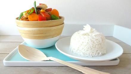Thai-Gemüse an Kokosreis