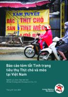 Báo cáo tóm tắt Tình trạng tiêu thụ Thịt chó và mèo tại Việt Nam