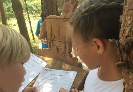 Children at BEAR SANCTUARY Domazhyr