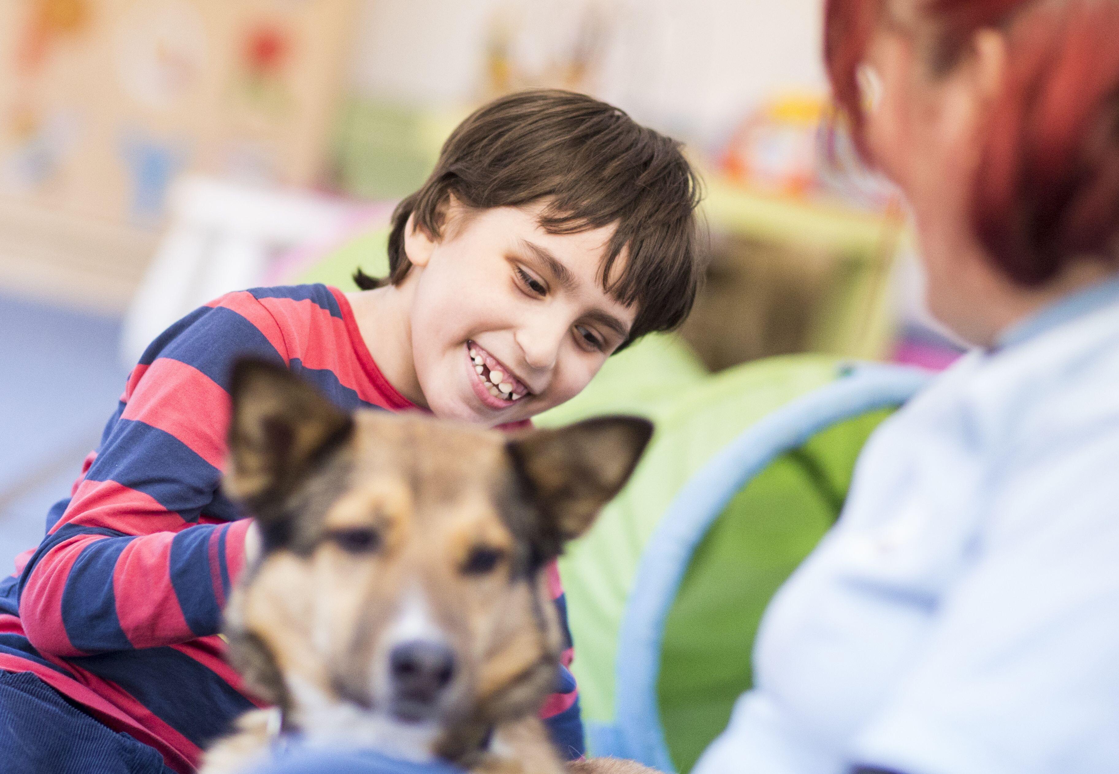 QUATRE PATTES et son programme d'intervention assistée par un animal