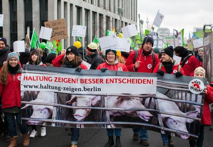 Demo in Berlin, Wir haben es satt  Germany   Copyright Notice: © VIER PFOTEN, Fred Dott   © Status: All Rights