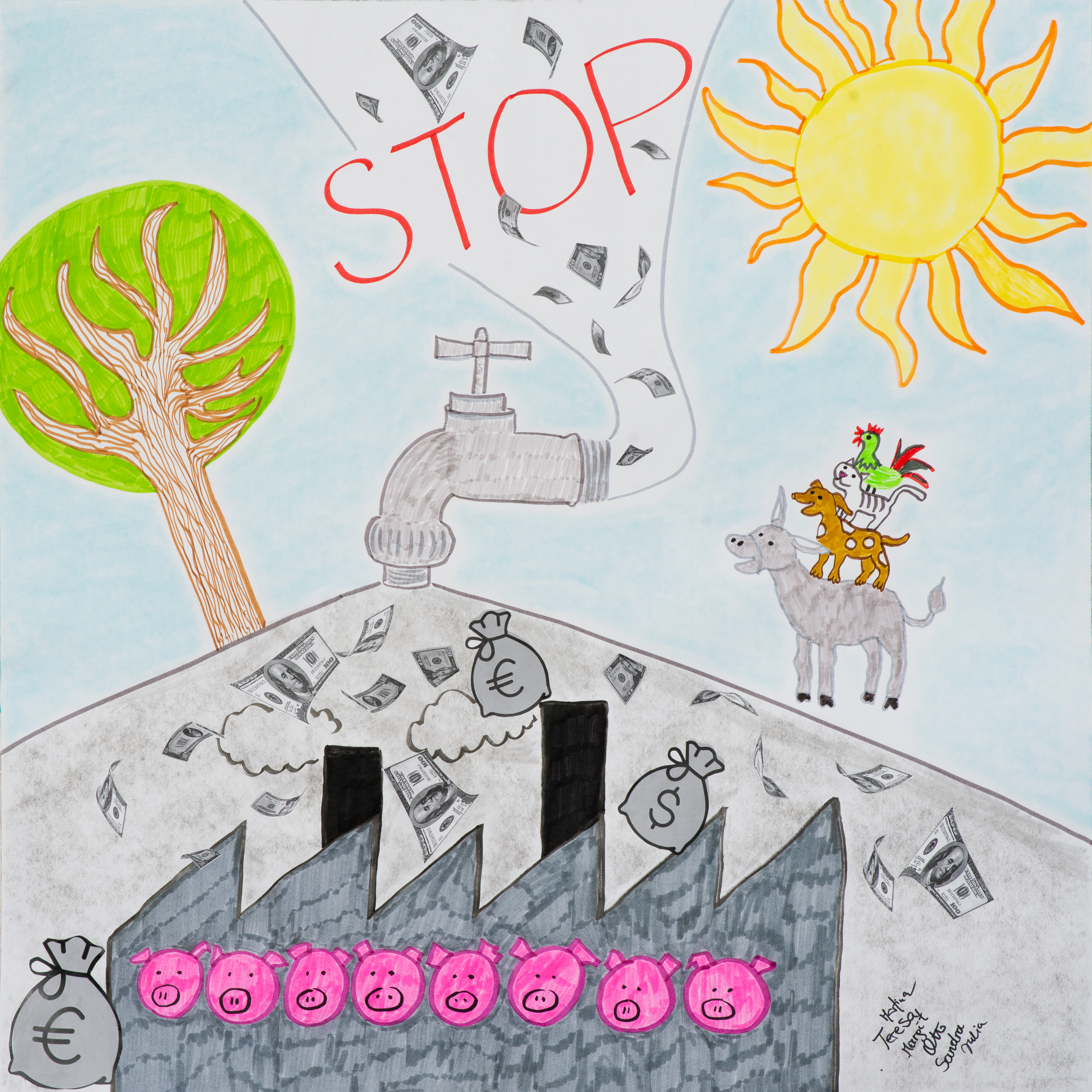Ending all agricultural subsidies that harm animals and the environment created by the team, created by Margit D, Otto H, Sandra K, Julia M, Martina, N and Teresa P