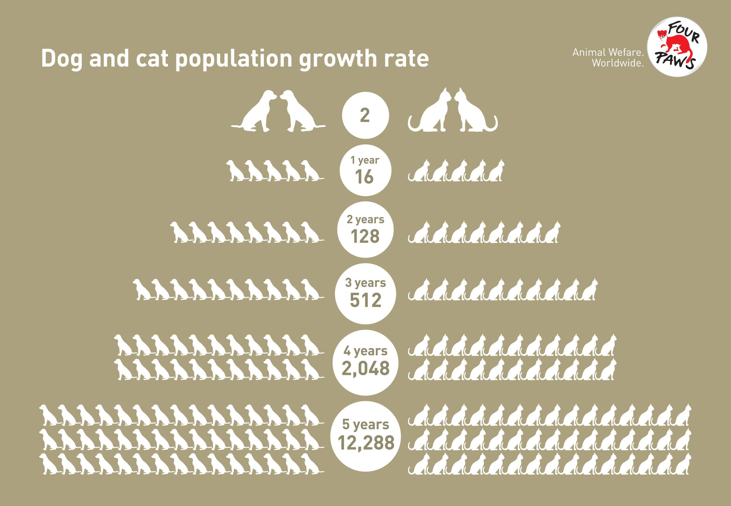Dog and cat population growth rate