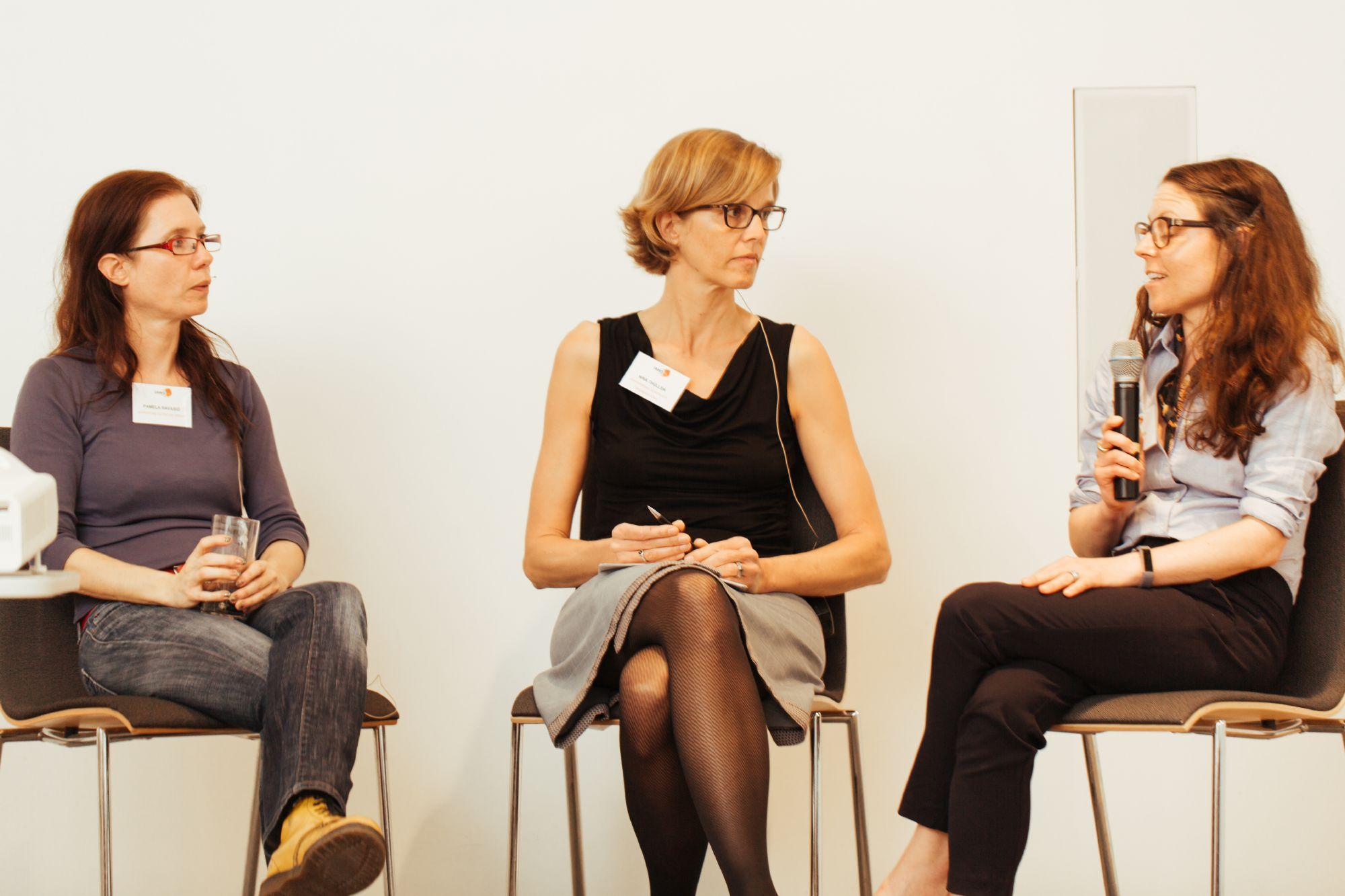 Pamela Ravasio, Hanna Denes und Nina Thüllen beim IAWS 2018