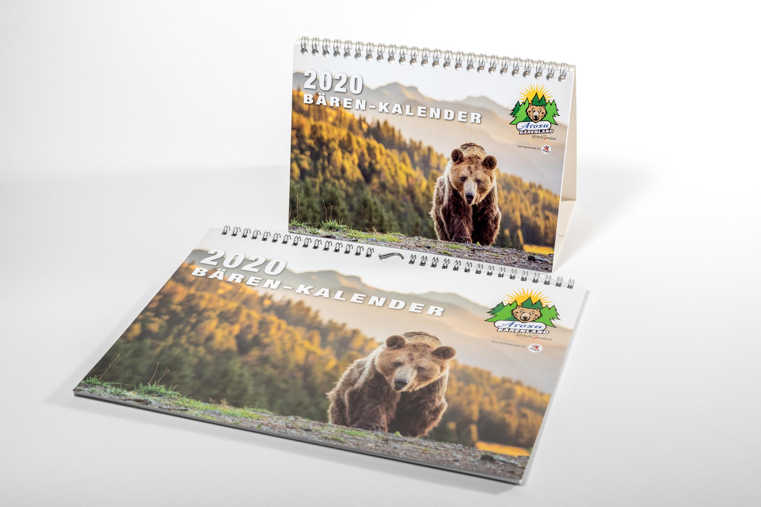 Calendrier Arosa Terre des Ours 2020