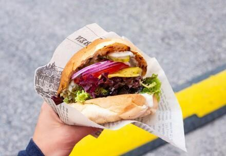 un burger vegan