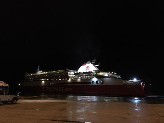 Kurz vor der Überfahrt von Griechenland nach Italien