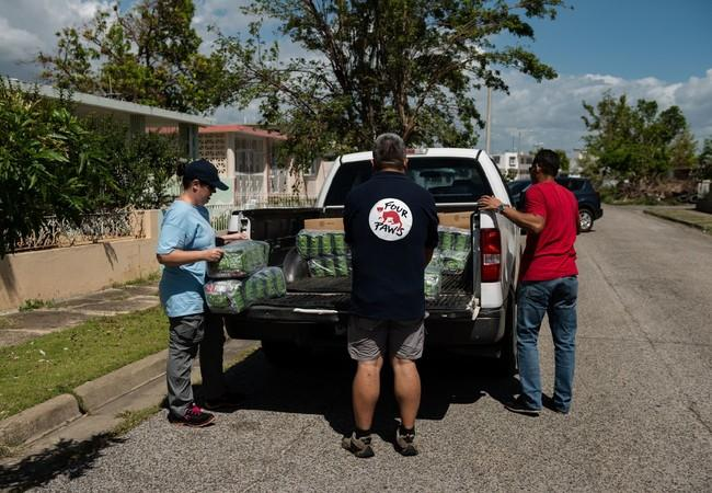 The team delivered supplies to areas hit