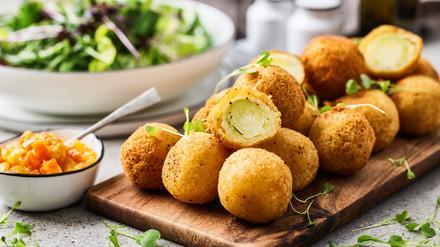 Rosenkohl-Kartoffel-Kroketten