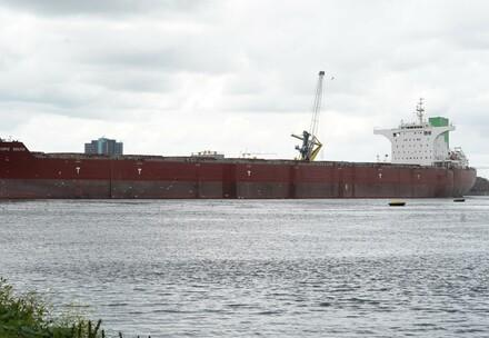 The giga soy ship, arriving in Amsterdam