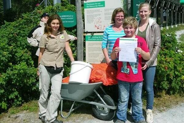 Buchmayer Family with donation