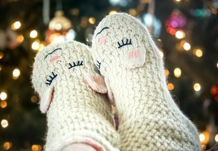 Chaussettes tricotées