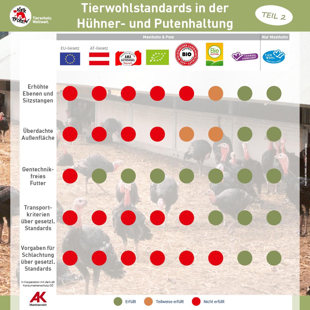 Tierwohlstandards in der Hühner- und Putenhaltung