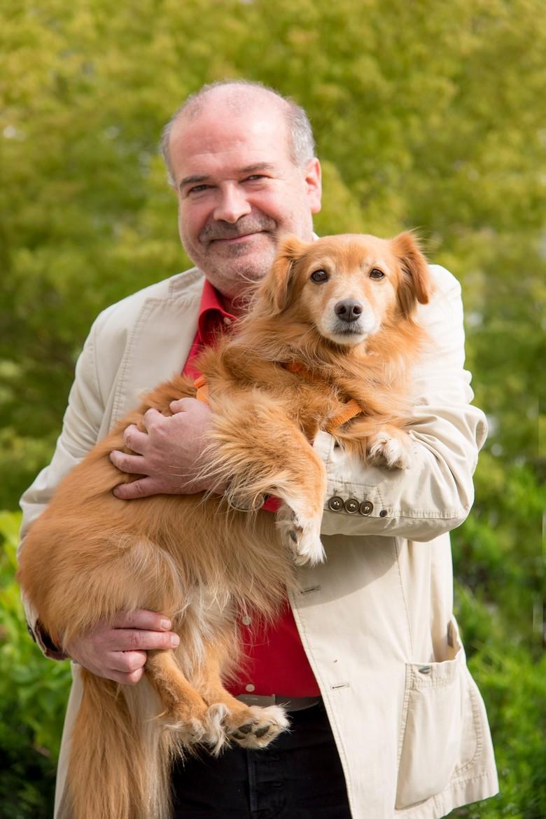 Heli Dunger mit Hund Cooper