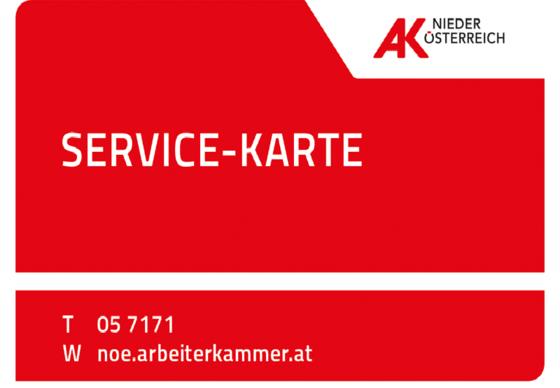 Service-Karte der Arbeiterkammer Niederösterreich