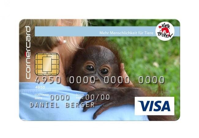 Kreditkarte Orang-Utan