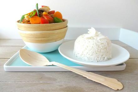 Thai-Gemüse mit Reis