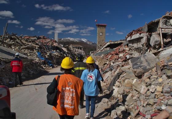 VIER PFOTEN besucht die zerstörten Gebiete in Italien