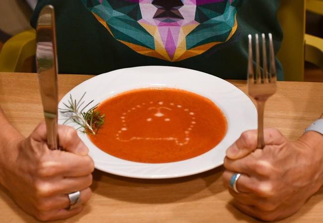 Leckere Tomatensuppe aus dem BIO-Bistro