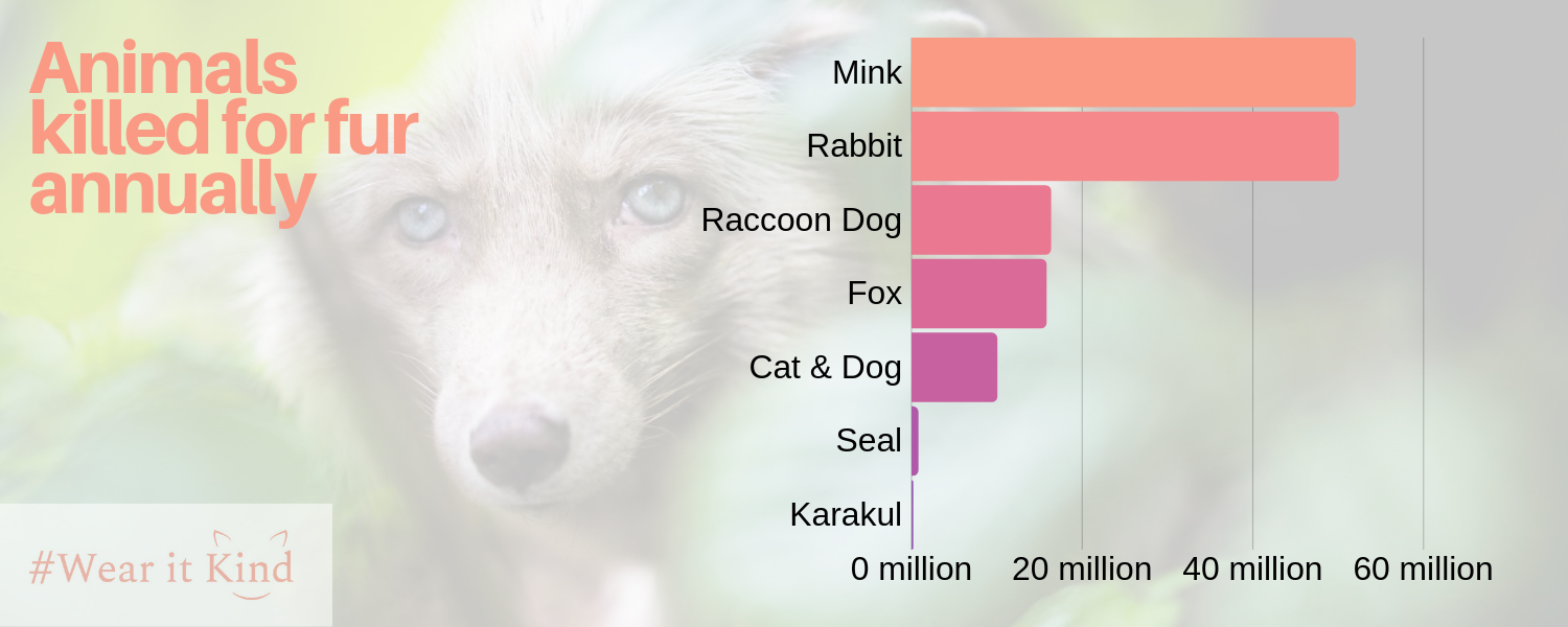 Infographic Animals killed for fur annually